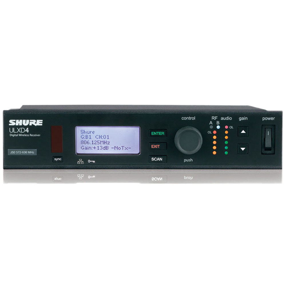 SHURE ULXD4-J51 ワイヤレス受信機