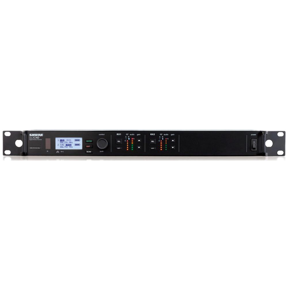 SHURE ULXD4D-G50 ワイヤレス用ダイバーシティ2ch受信機