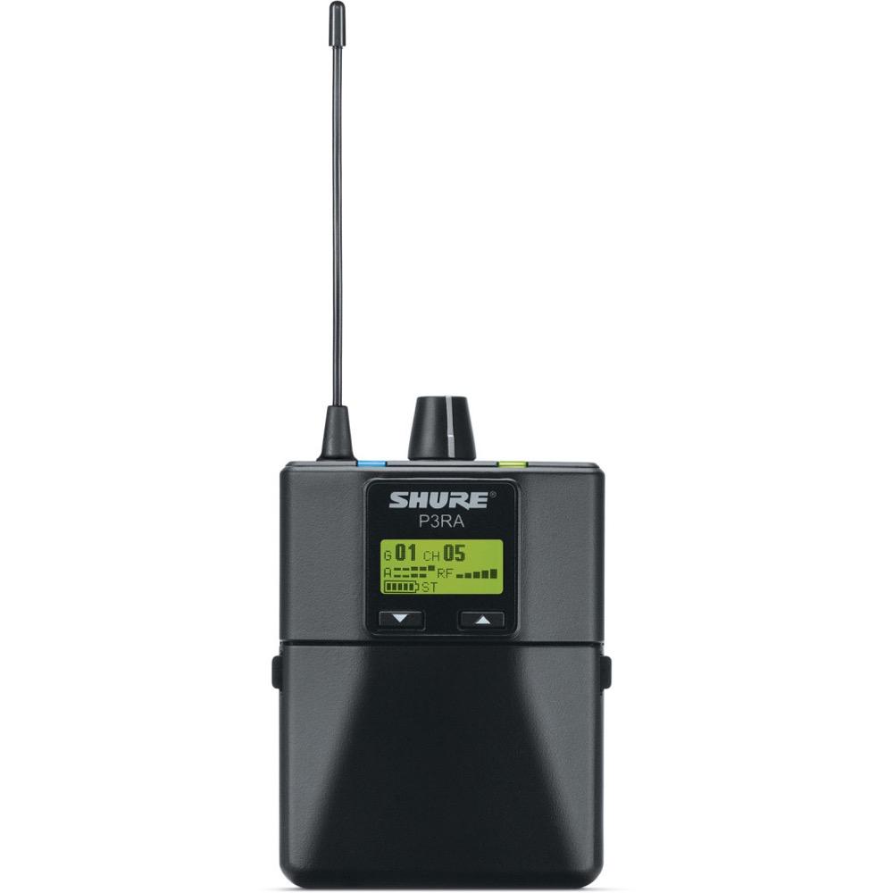 SHURE P3RA-M18 ワイヤレスインイヤーモニターシステム PSM300用ボディパック型受信機