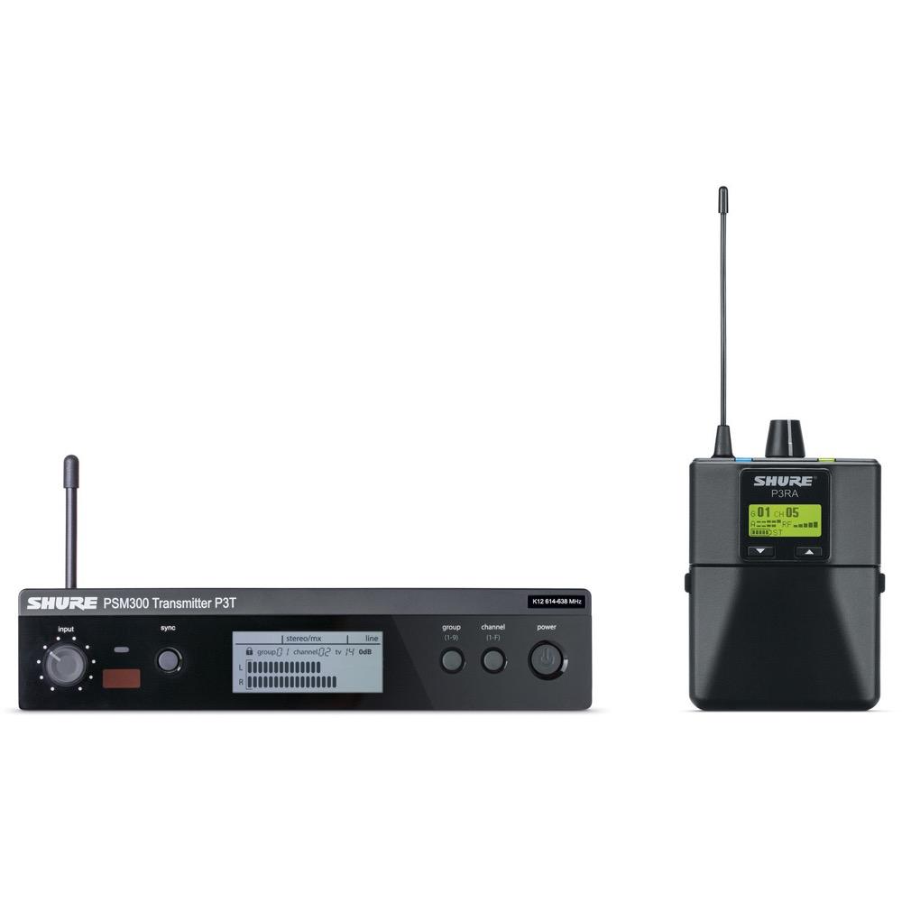 SHURE P3TRA-M18 インイヤーモニターシステム PSM300送受信機パッケージ