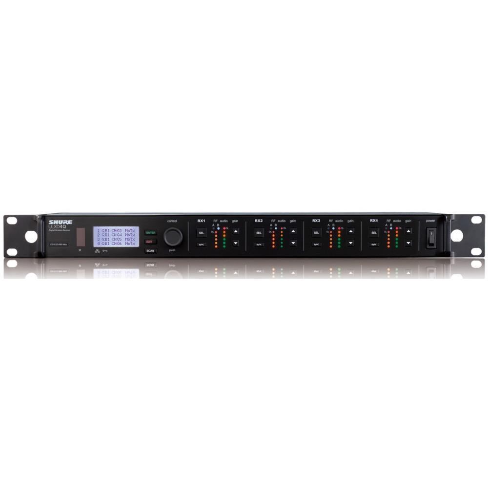 SHURE ULXD4Q-Z16 ワイヤレス用ダイバーシティ4ch受信機