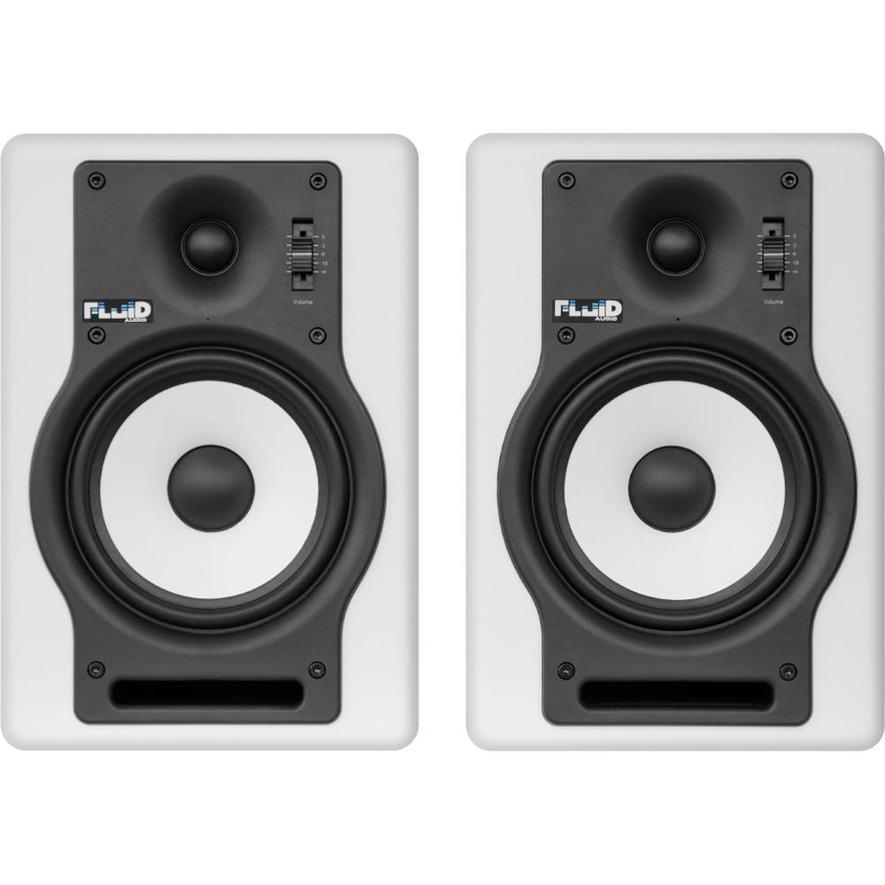 Fluid Audio F5W バイアンプ(40W+30W) モニタースピーカー ホワイトカラー
