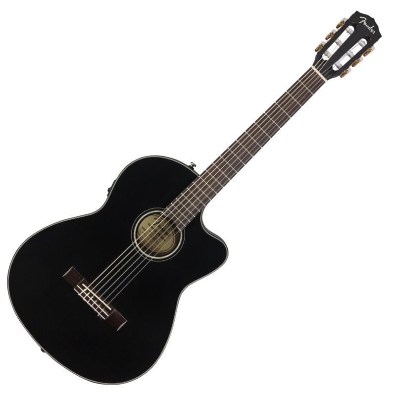 Fender CN-140SCE Black クラシックギター