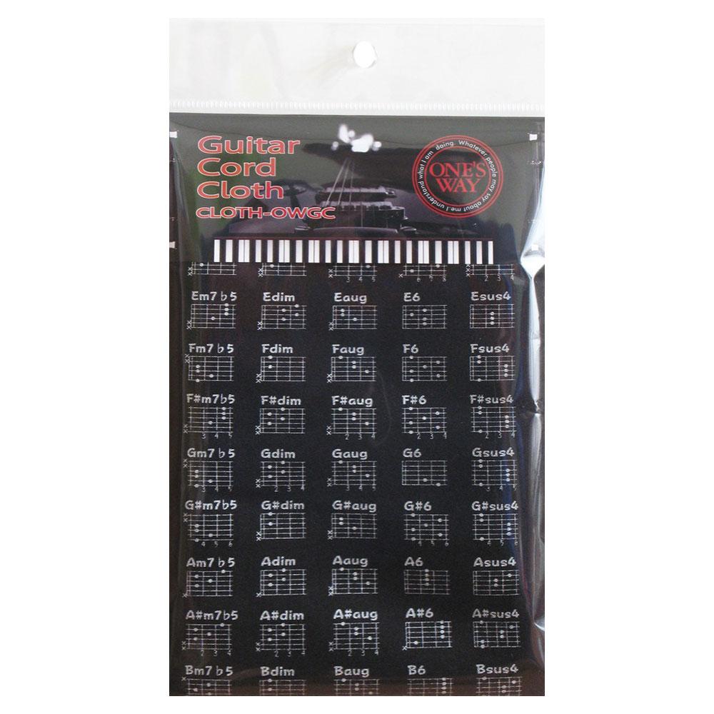 ギターコード付き マイクロファイバークロス ONE'S WAY GUITAR CODE クロス ギターコード CLOTH-OWGC 休み CLOTH ファクトリーアウトレット BLK