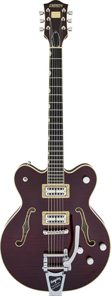 GRETSCH G6609TFM Players Edition Broadkaster Center Block Double-Cut Dark Cherry Stain エレキギター