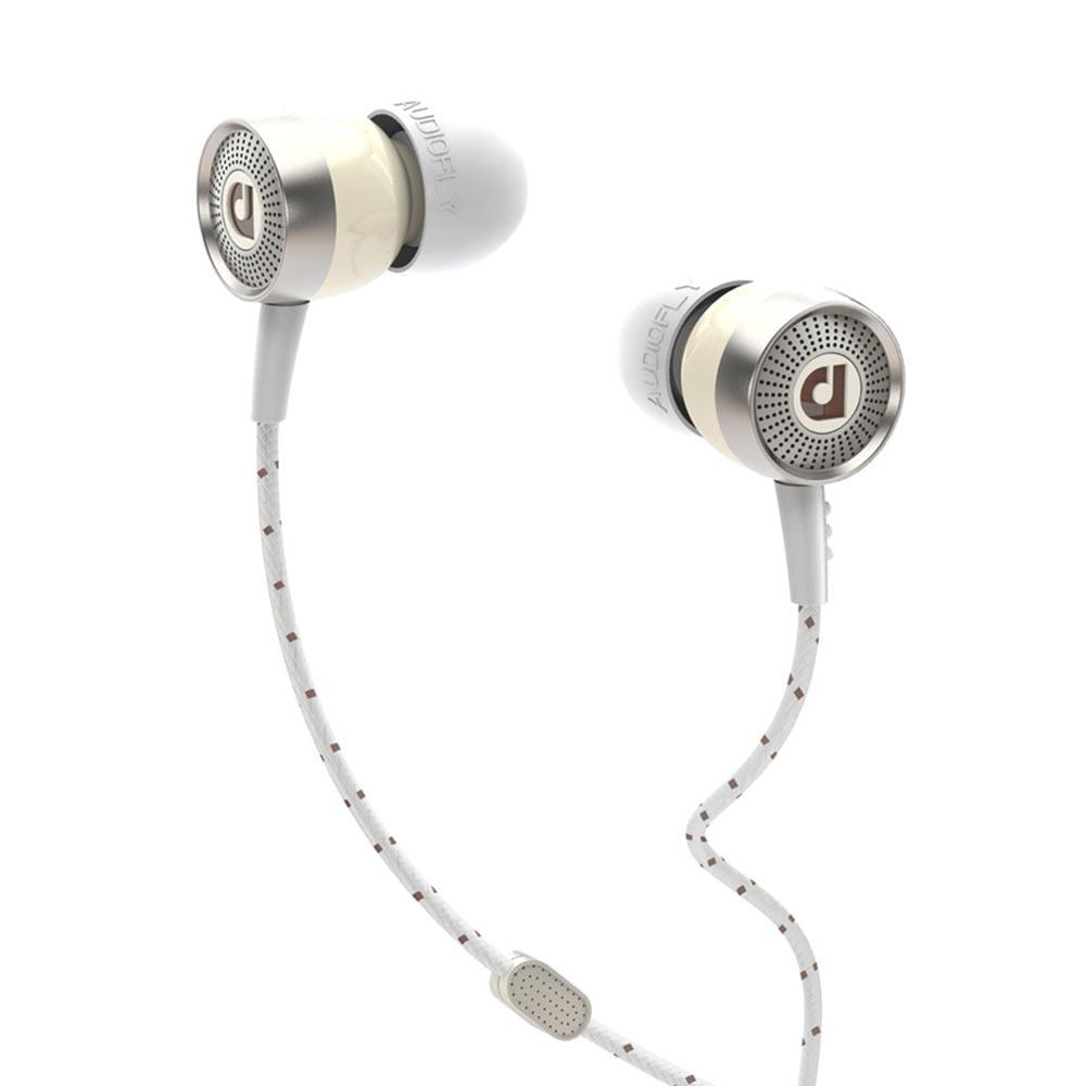 Audiofly AF-45 Bakelite White w/mic マイク付き インナーイヤーヘッドホン