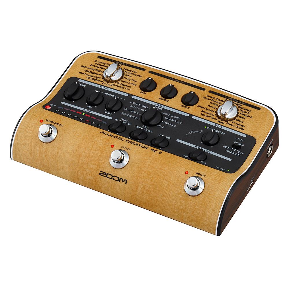 ZOOM AC-3 Acoustic Creator アコースティックギター用プリアンプ