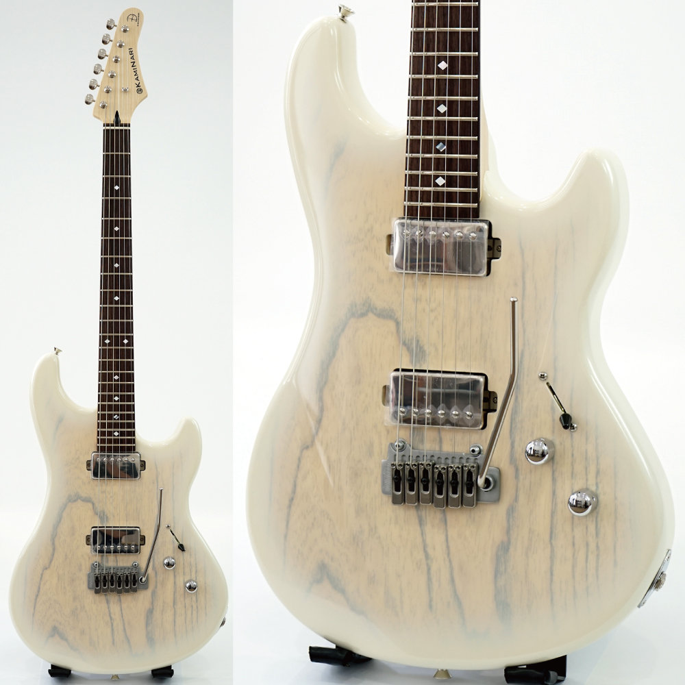 KAMINARI K-LQ02 Liquid-2 See-through Metalic White Burst エレキギター