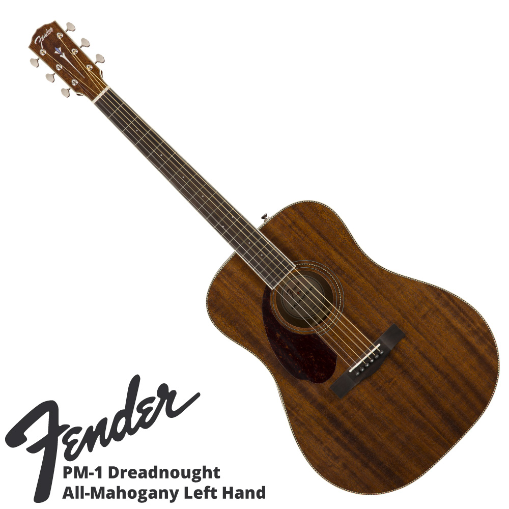 Fender PM-1 Dreadnought All-Mahogany LH Natural アコースティックギター