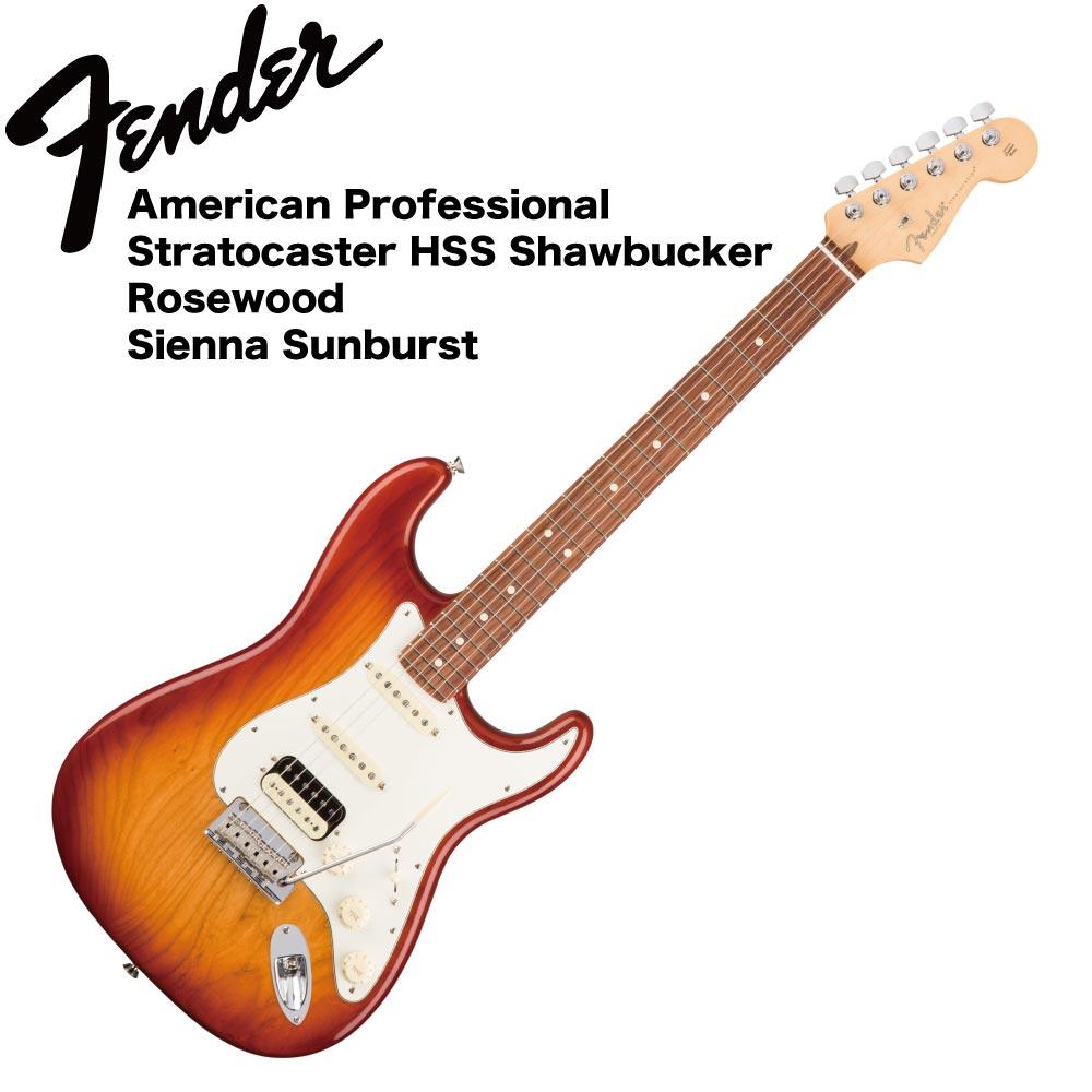 Fender American Professional Stratocaster HSS Shawbucker RW SSB エレキギター