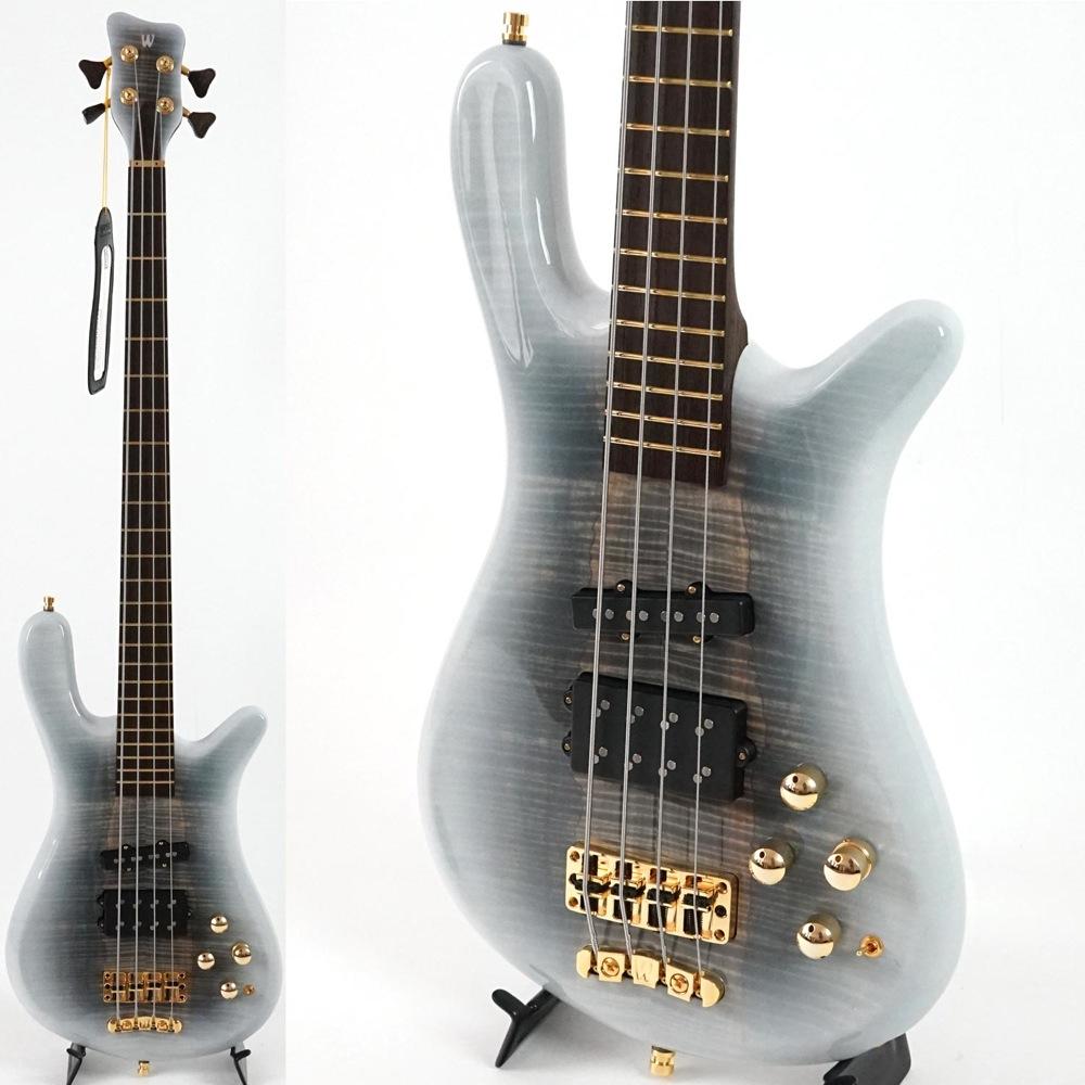 WARWICK Custom Shop Streamer Jazzman 4-String Bleached Black White Burst Transparent High Polish エレキベース