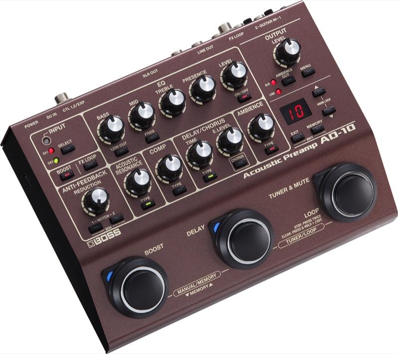 BOSS AD-10 Acoustic Preamp アコースティックギタープリアンプ