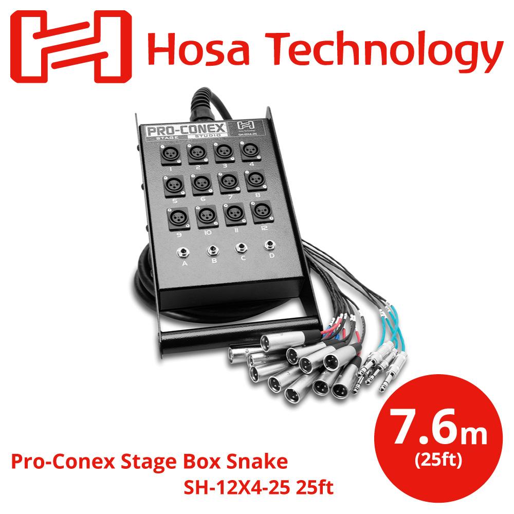 Hosa SH-12X4-25 7.6m 一体型ライブ用マルチケーブル アウトレット