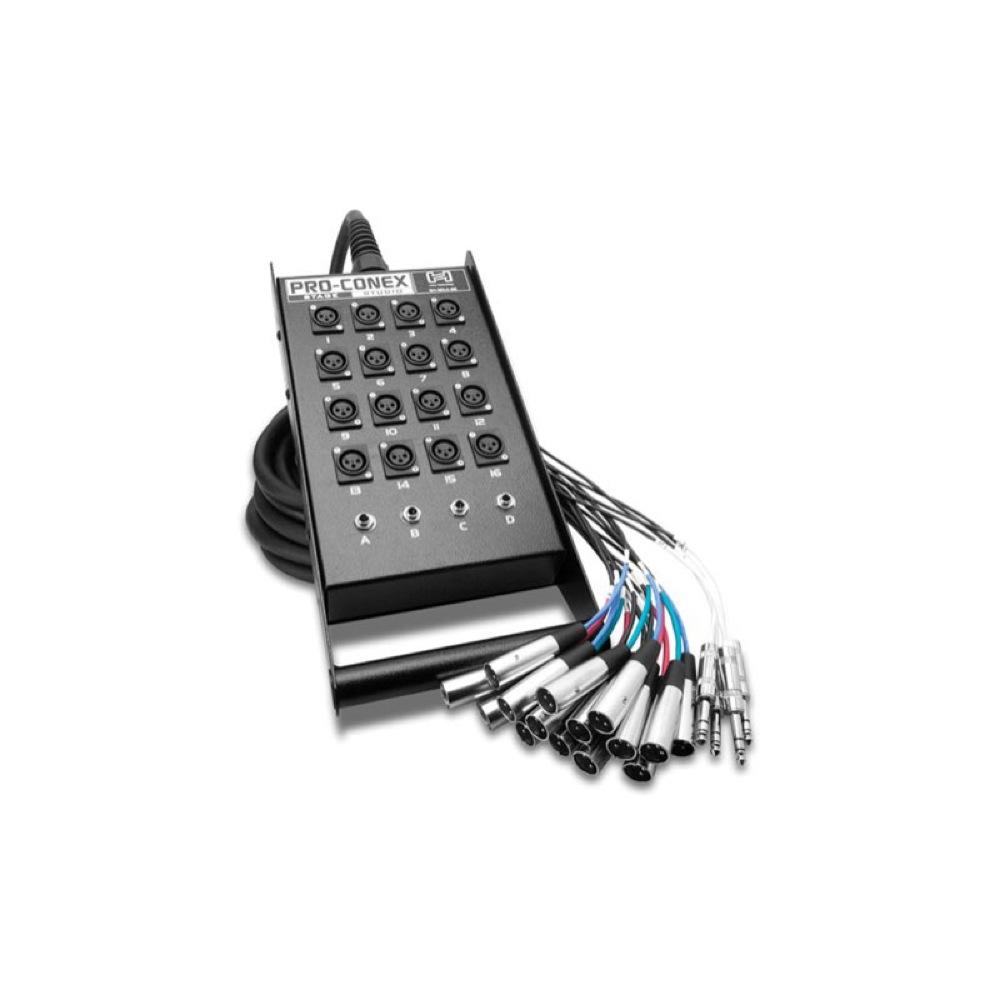 Hosa SH-16X4-100 30m 一体型ライブ用マルチケーブル アウトレット