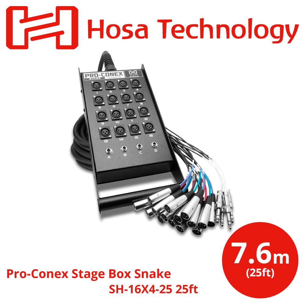 Hosa SH-16X4-25 7.6m 一体型ライブ用マルチケーブル アウトレット