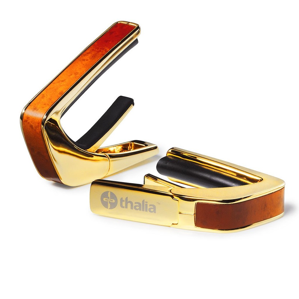 Thalia Capo 200 in 24k Gold Finish with Sunburst Birdseye Maple Inlay カポタスト