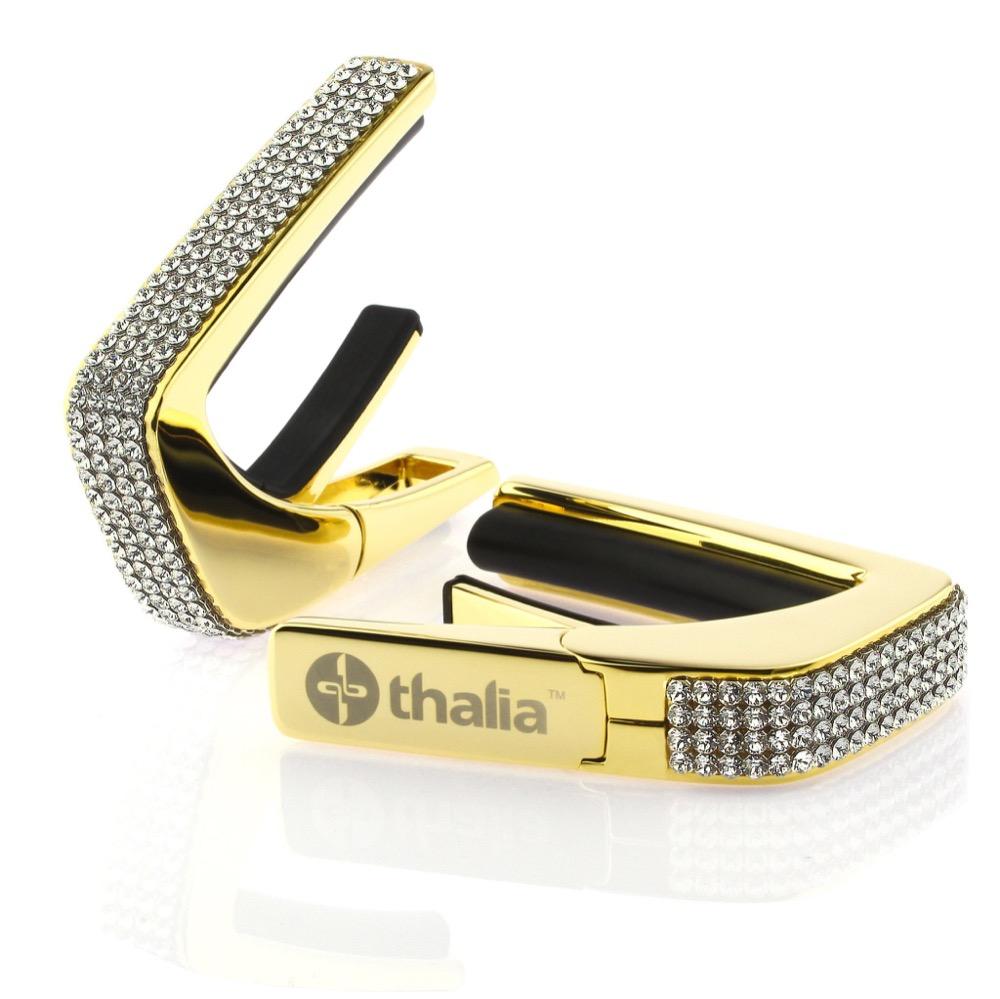 Thalia Capo 200 in 24k Gold Finish with Swarovski Crystal Inlay カポタスト