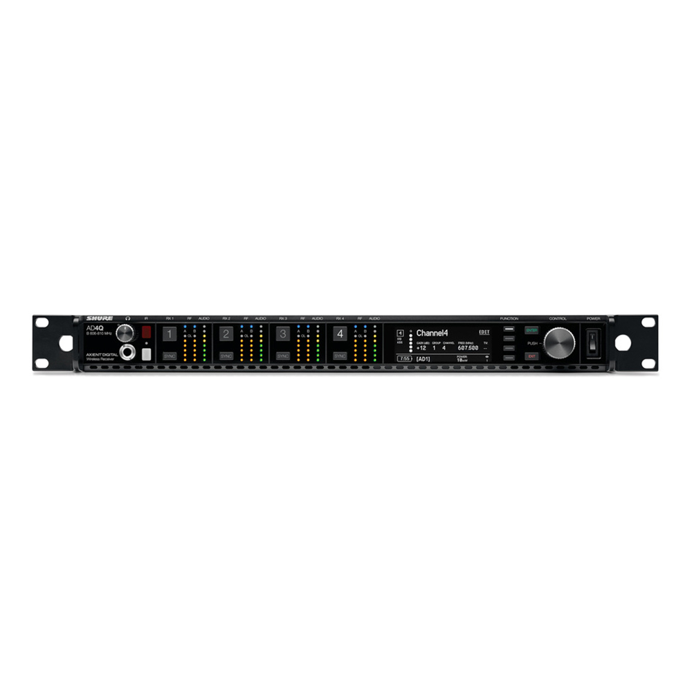 SHURE AD4QJ-A ワイヤレスシステム 4ch受信機