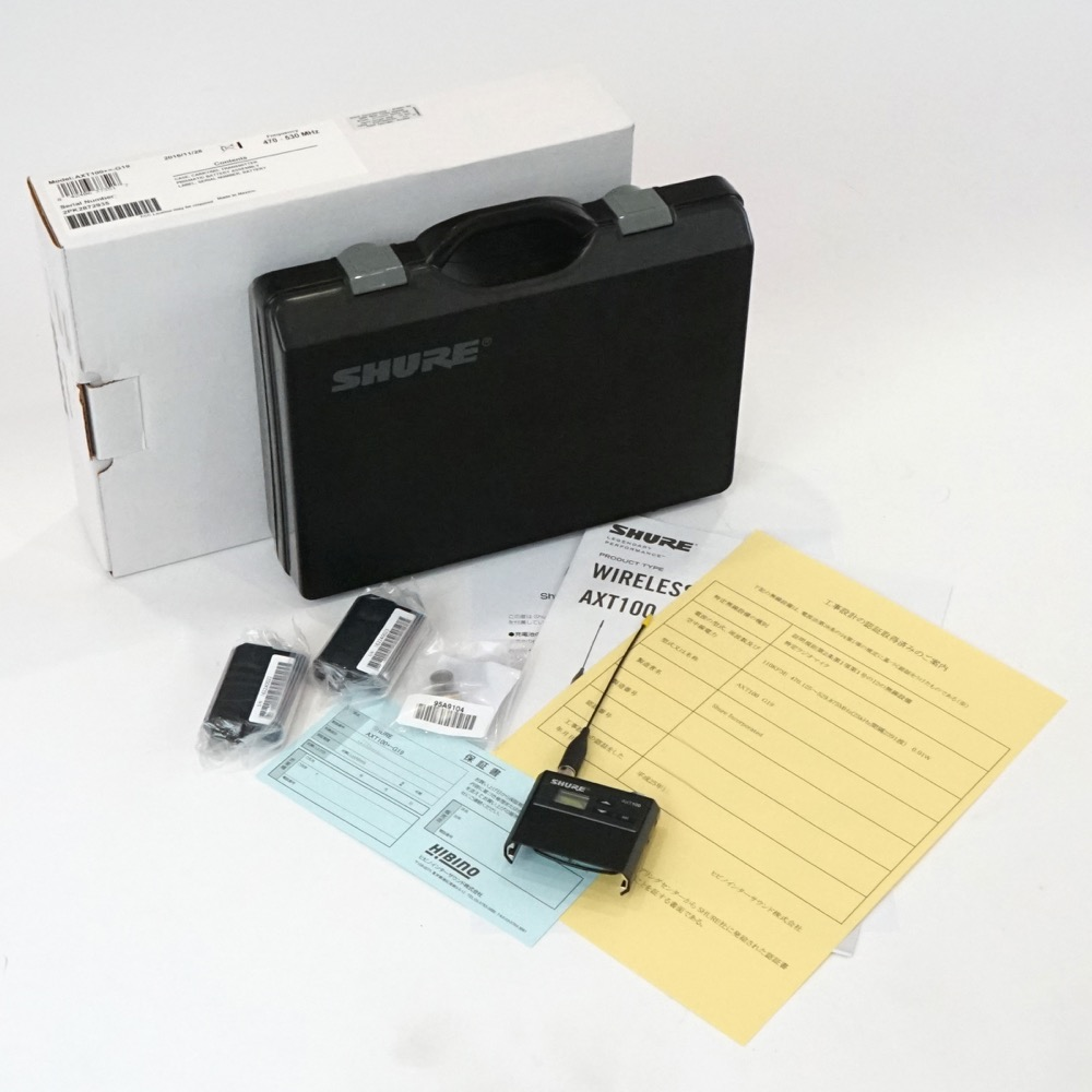 SHURE AXT100-H18 ボディーパック型送信機 【中古】