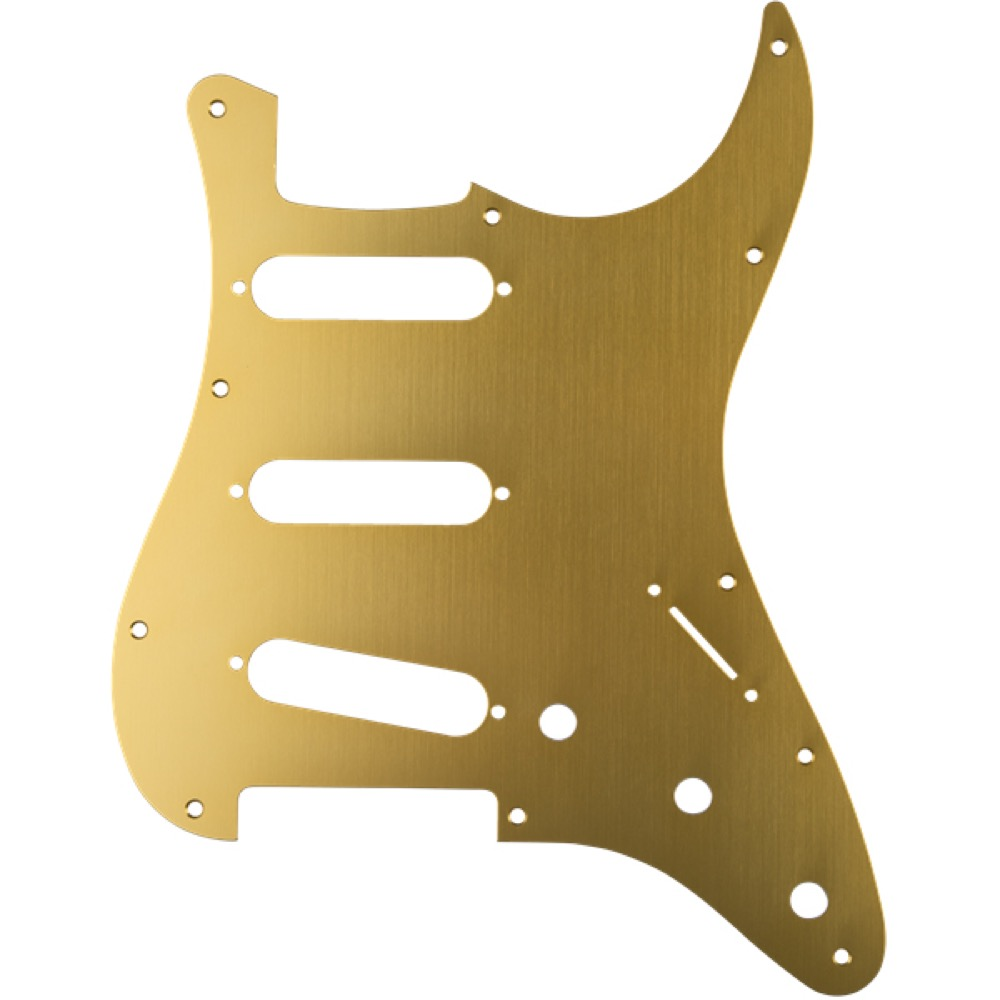 Fender Classic 60s Stratocaster 11-Hole 1-Ply Gold Gold Anodized Anodized Made 11-Hole in Japan Model Pickguard No.0991301158 フェンダー純正ピックガード, ブランディール:19e64d64 --- krianta.com