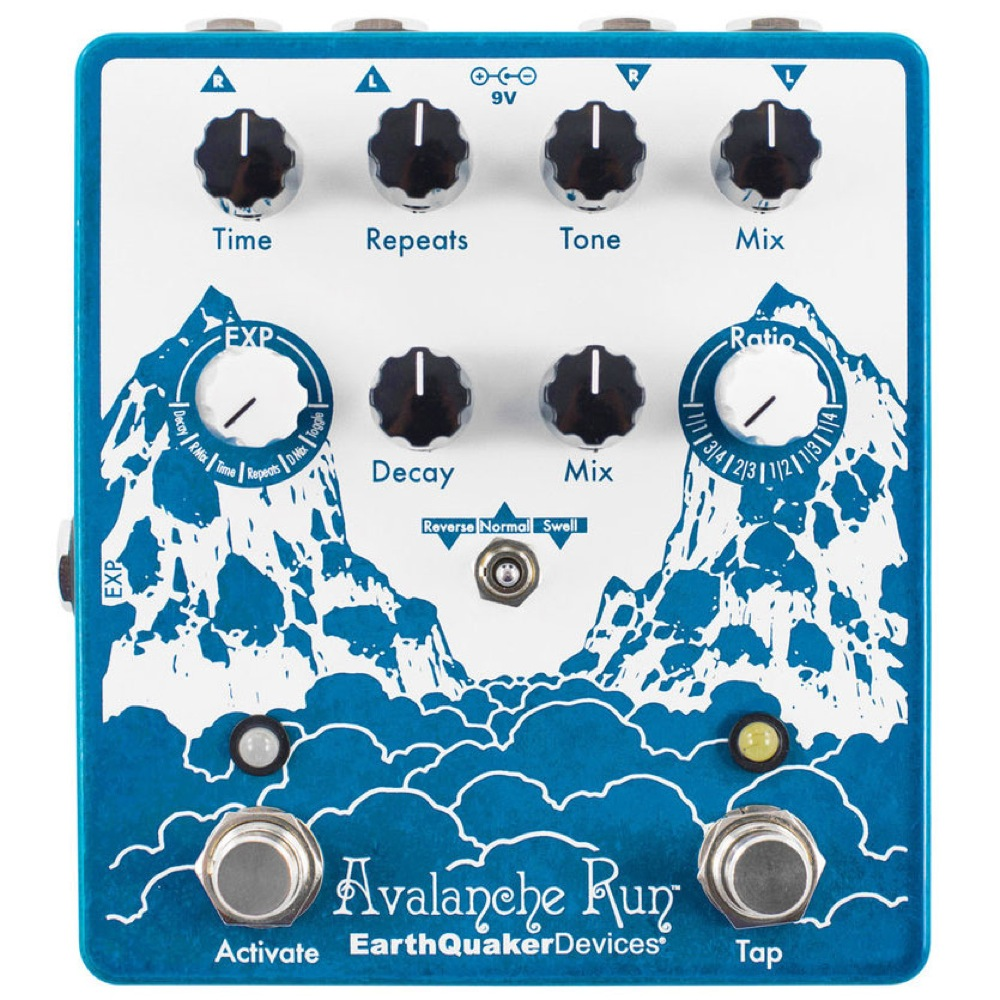 EarthQuaker Devices Avalanche Run ディレイ&リバーブ ギターエフェクター