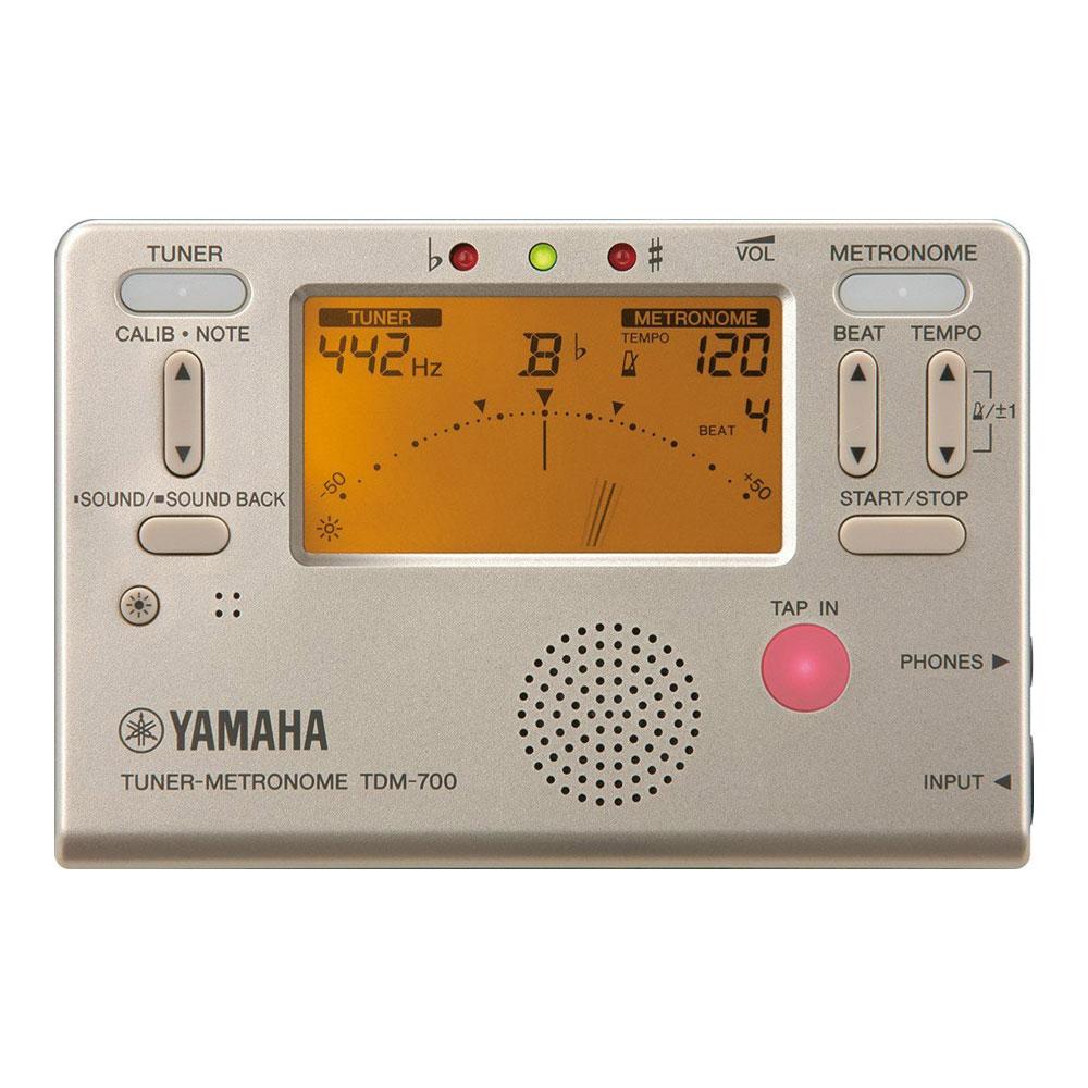 ヤマハ 送料無料激安祭 チューナーとメトロノームが同時に使用可能 YAMAHA ゴールド ランキングTOP10 TDM-700G チューナーメトロノーム
