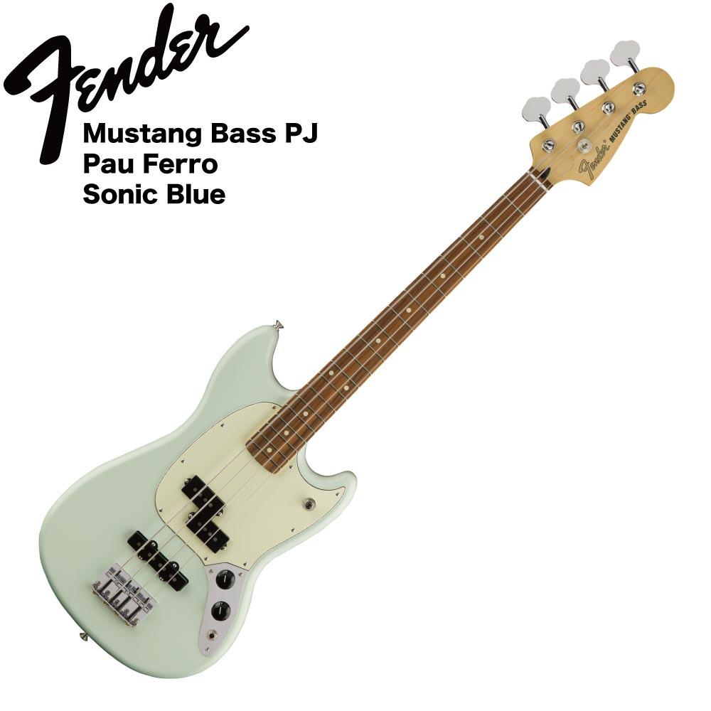 Fender Mustang Bass PJ PF SBL エレキベース