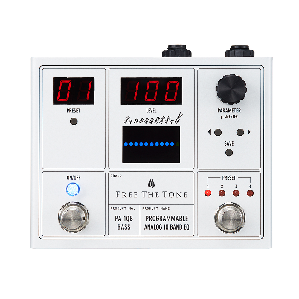 Free The Tone PA-1QB PROGRAMMABLE ANALOG 10 BAND EQ ベース用エフェクター