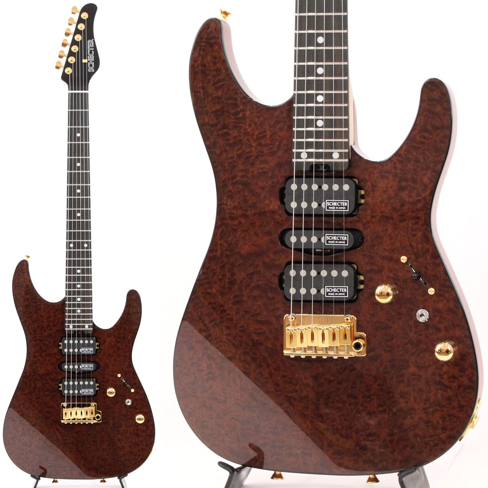 SCHECTER NV-DX-24-MH-VTR QUILTED MAHOGANY/E エレキギター