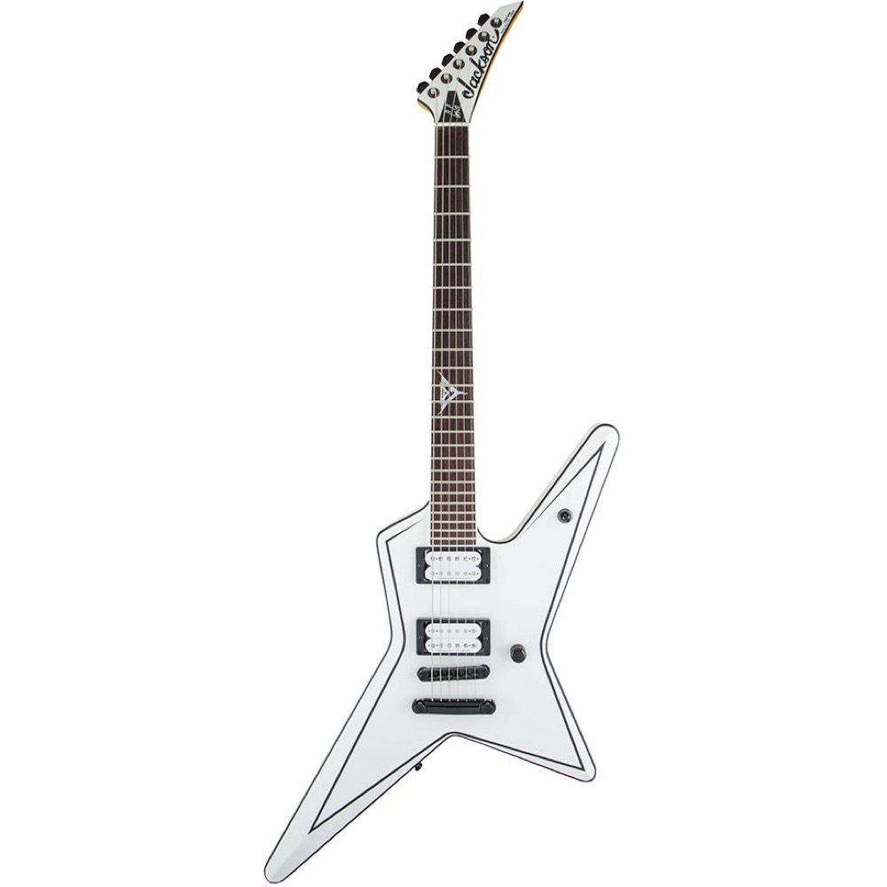 Jackson Artist Signature Gus G. Star Satin White with Black Pinstripes エレキギター