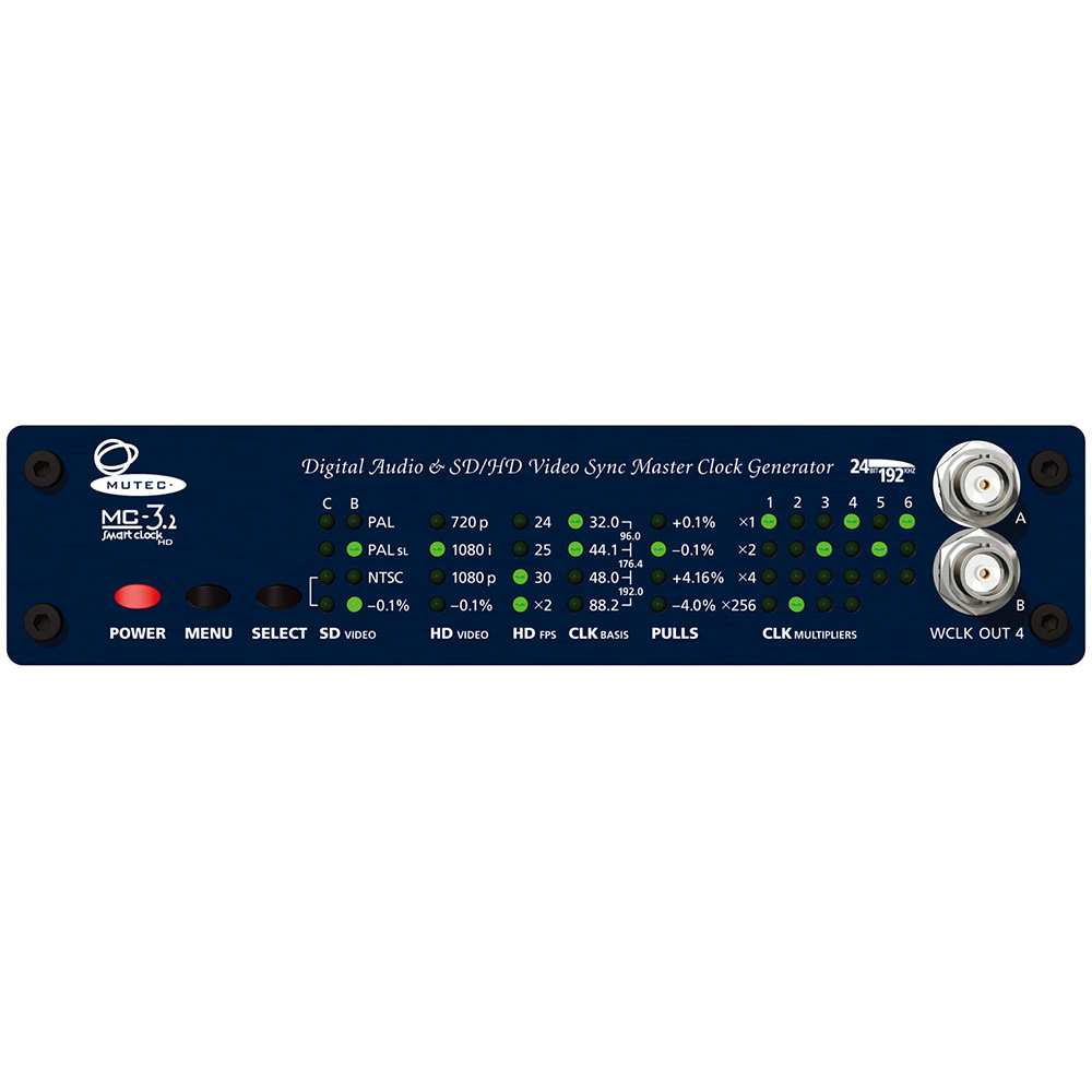 MUTEC MC-3.2 マスタークロック・SD/HDビデオシンク・ジェネレーター