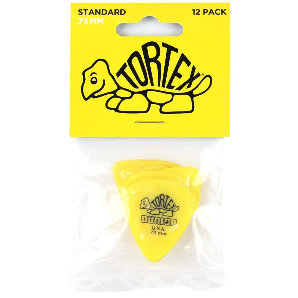 yellow 0.73 mm 12 pcs. Player/'s Pack Dunlop Tortex Standard Picks