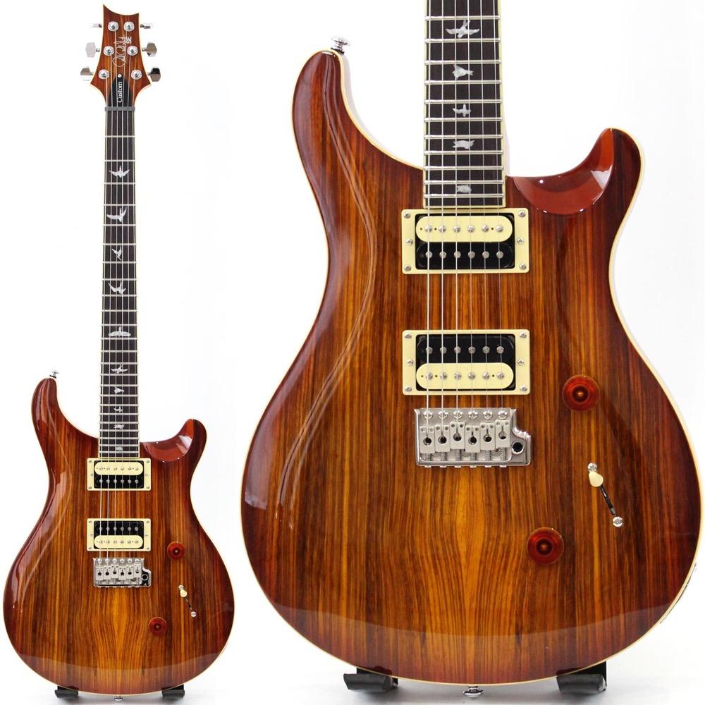 PRS SE Custom 24 ZEBRAWOOD EXOTIC VENEERS ゼブラウッドトップ エレキギター