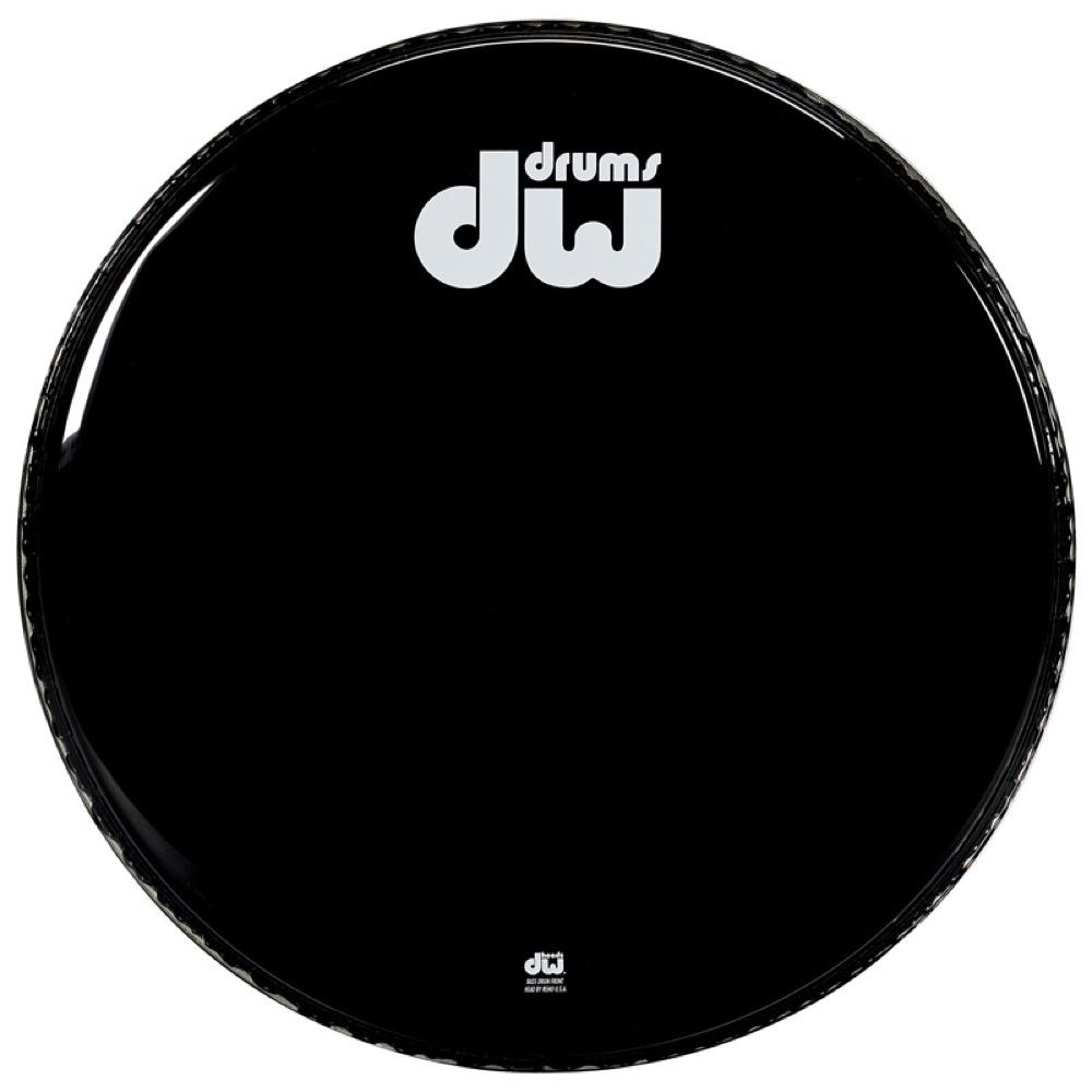 DW DW-DH-GB24KNV グロスブラック バスドラム 24インチ レゾナントヘッド ドラムヘッド