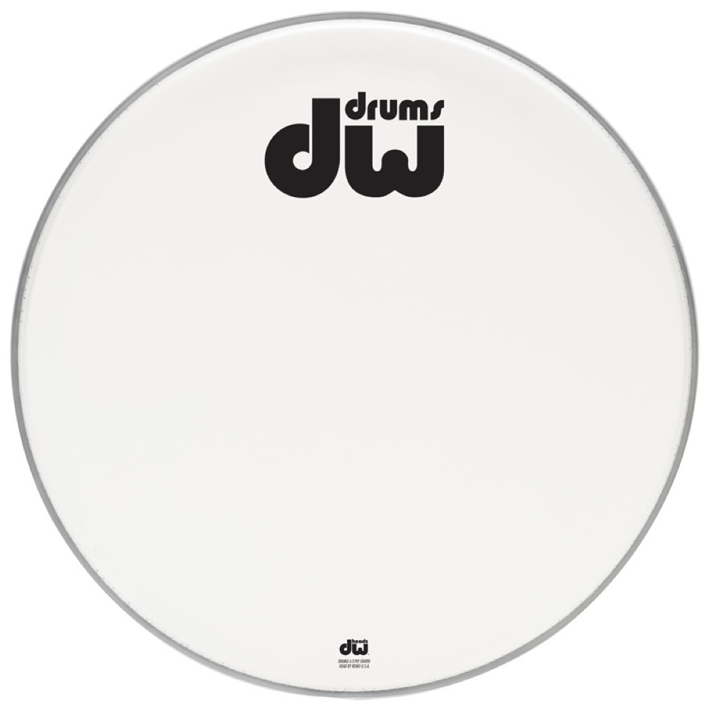DW DW-DH-ACW22K AA Two-Ply White Drum Heads コーテッド バスドラム 22インチ ドラムヘッド