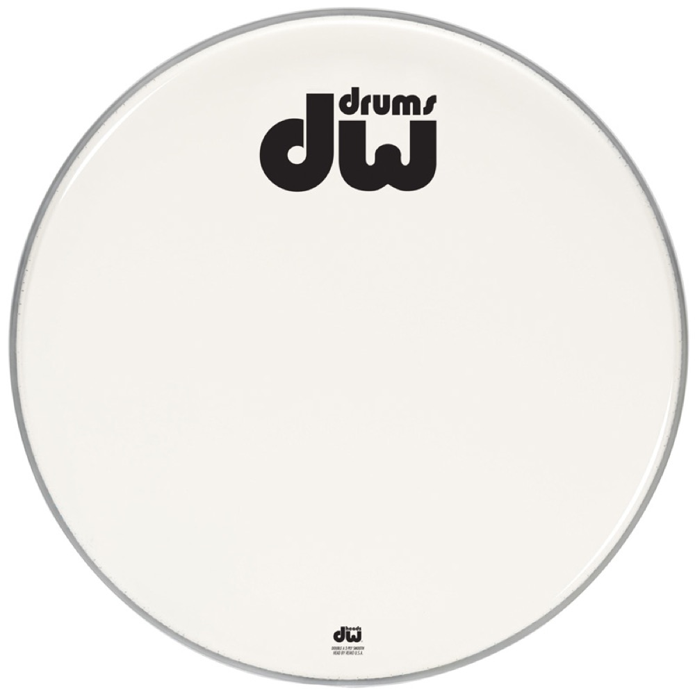 DW DW-DH-AW22K AA Two-Ply White Drum Heads スムース バスドラム 22インチ ドラムヘッド