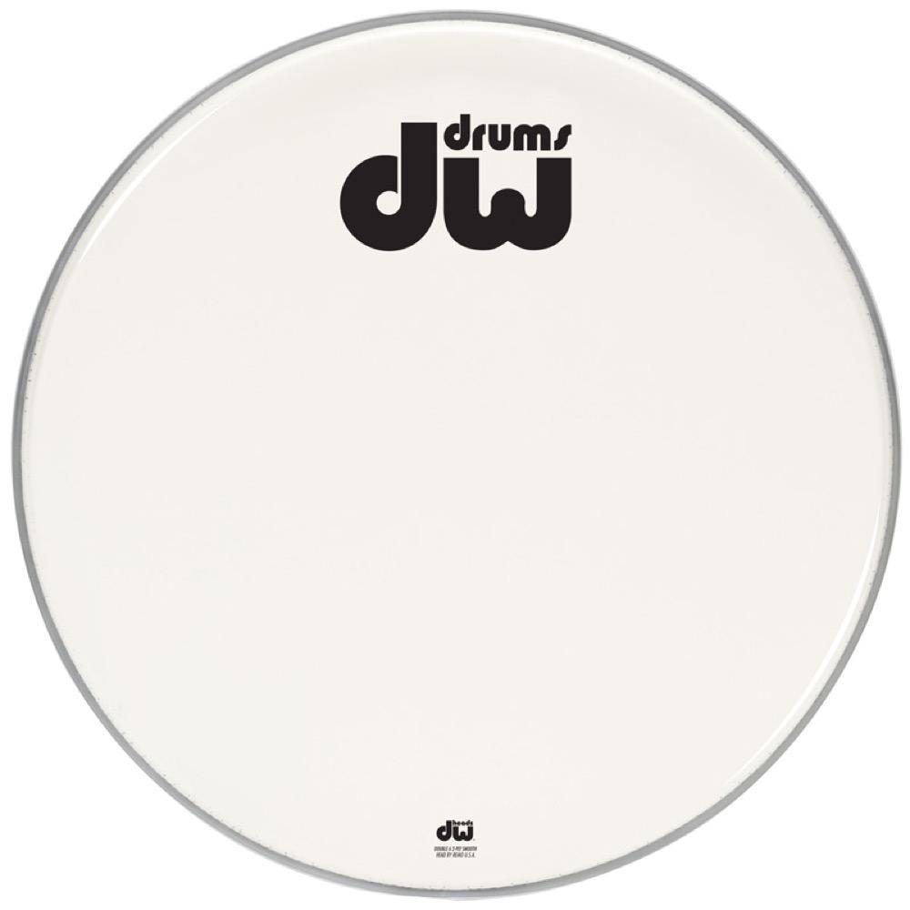 DW DW-DH-AW24K AA Two-Ply White Drum Heads スムース バスドラム 24インチ ドラムヘッド