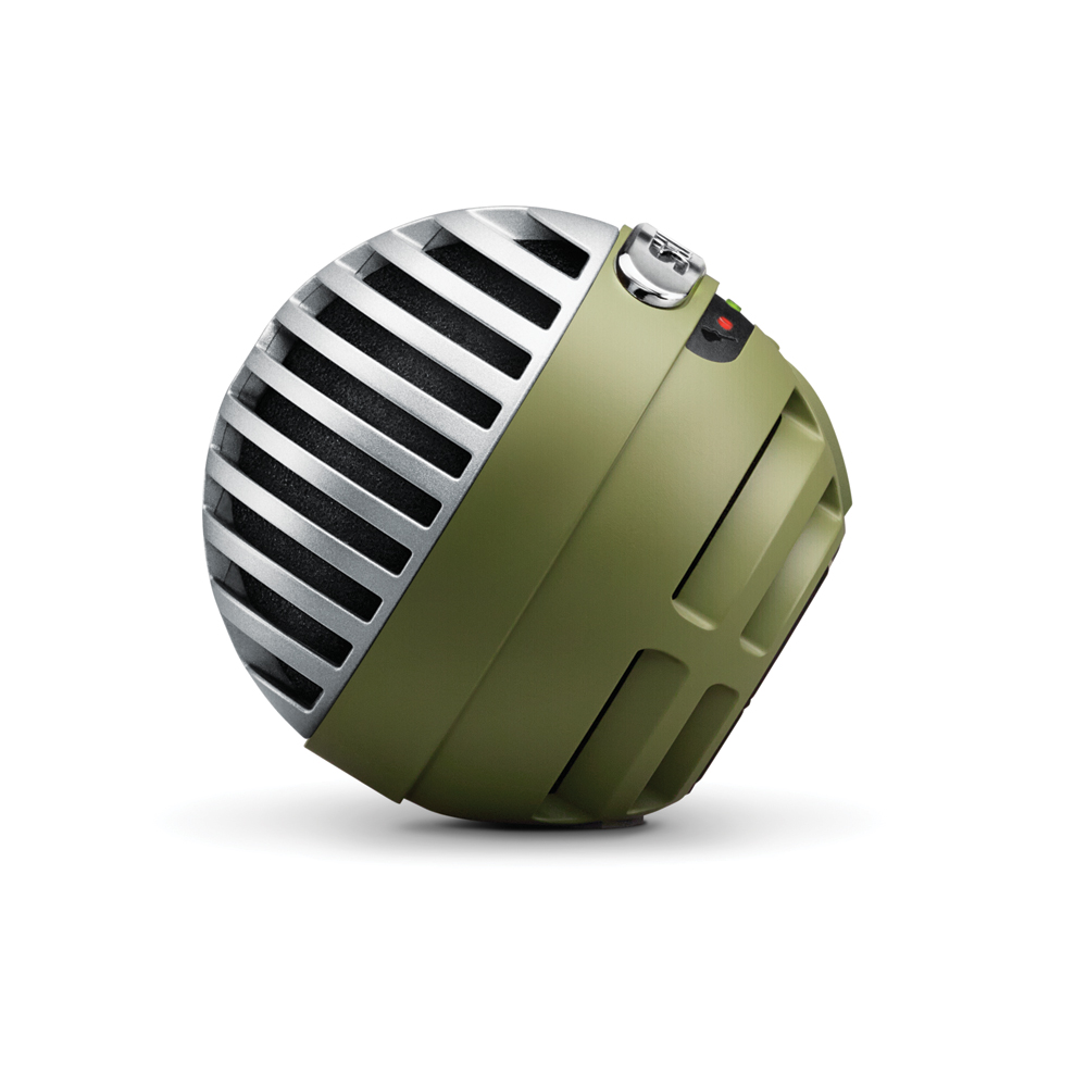 SHURE MV5A-G-LTG-A MOTIV デジタル コンデンサーマイクロホン グリーン