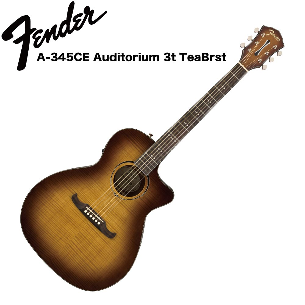 Fender FA-345CE Auditorium 3t TeaBrst RW エレクトリックアコースティックギター