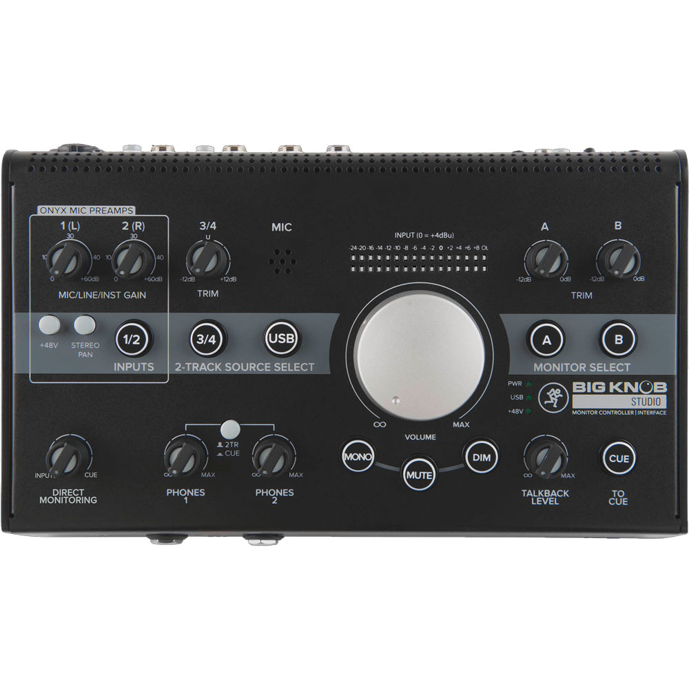 MACKIE Big Knob Studio モニターコントローラー USBインターフェイス機能搭載