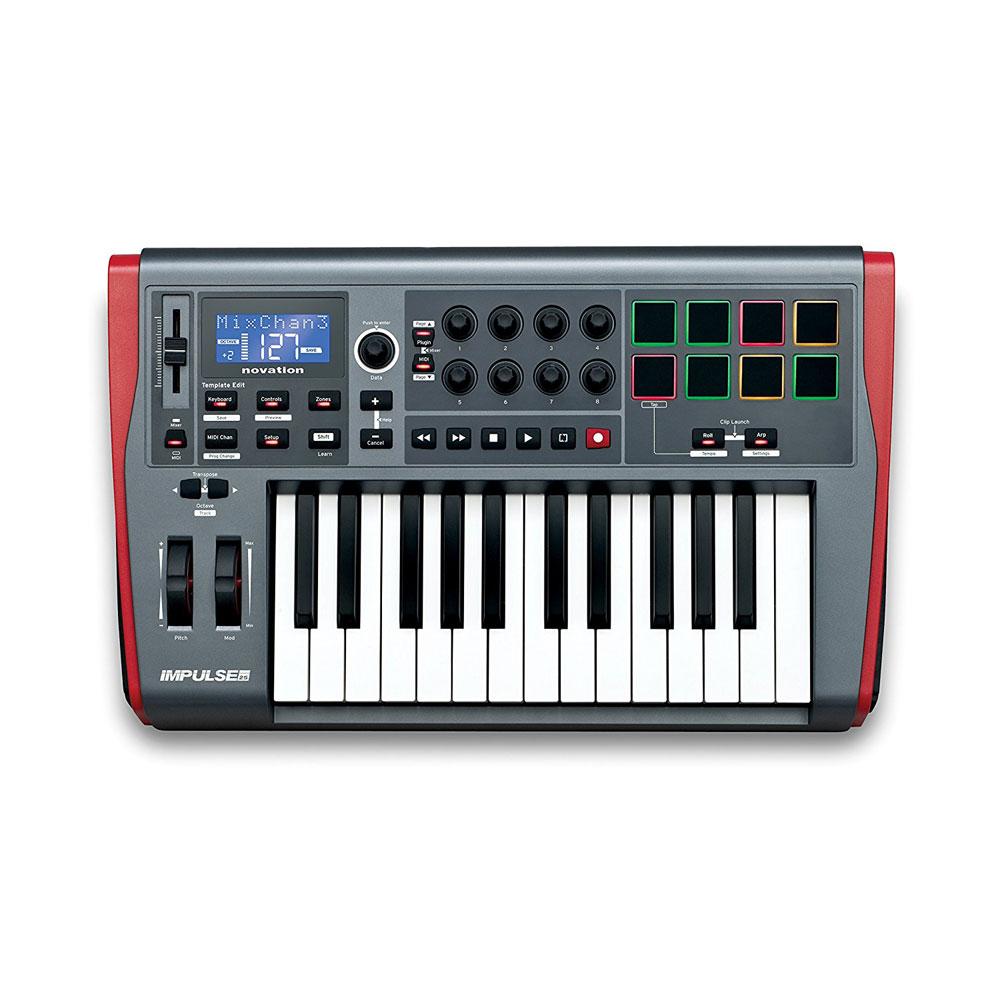 novation IMPULSE 25 MIDIコントローラー キーボード
