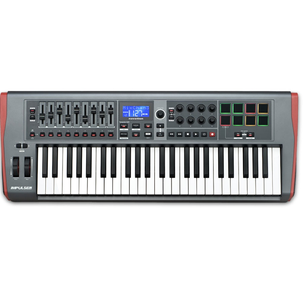 novation IMPULSE 49 MIDIコントローラー キーボード
