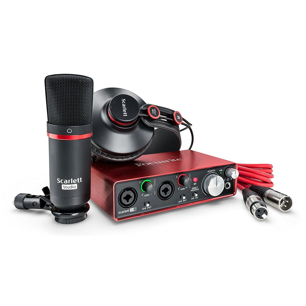 Focusrite Scarlett 2i2 Studio Pack Gen.2 USBオーディオインターフェイス