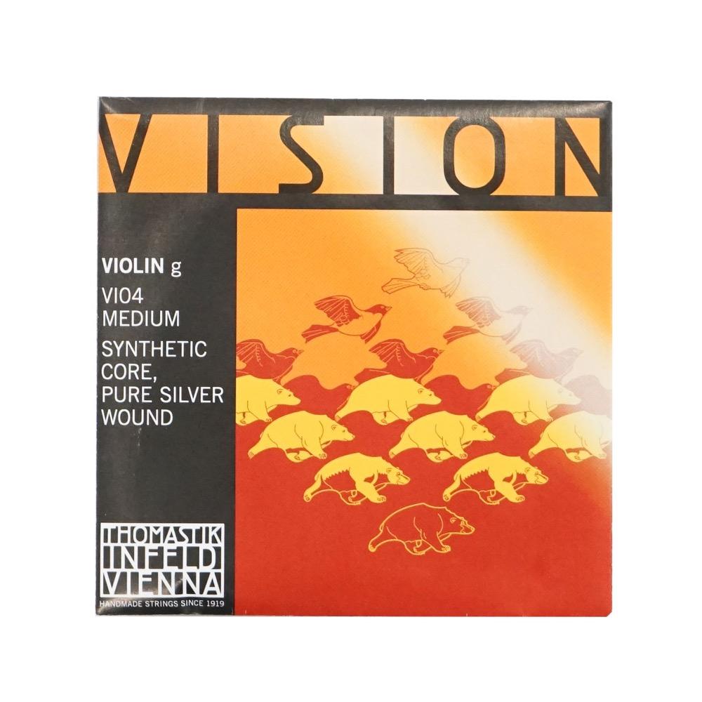 年間定番 ヴィジョン 4 バイオリン用弦 G線 人気ブランド バラ弦 バイオリン弦 Thomastik ビジョン VISION VI04