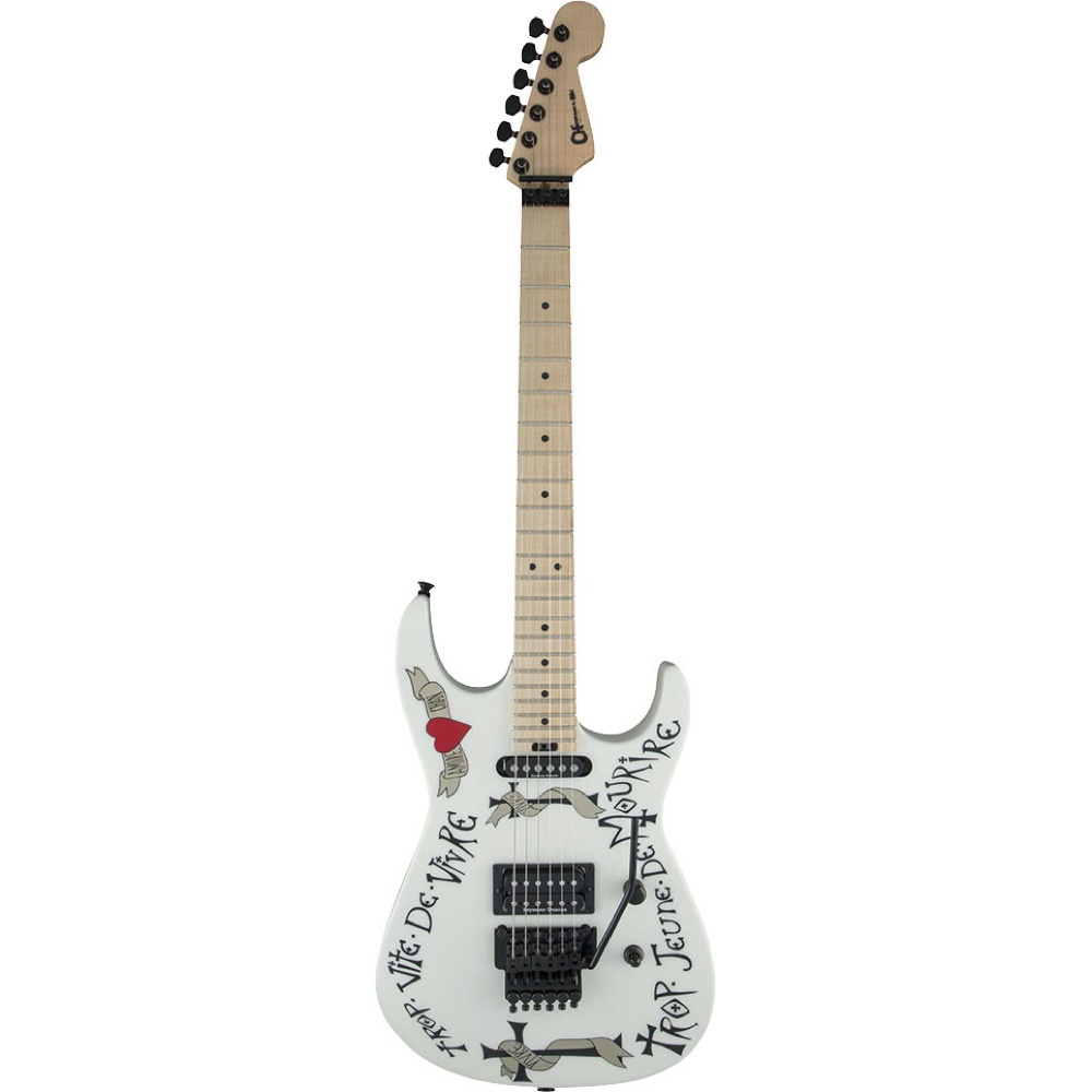 CHARVEL Warren Dema Warren Demartini USA Signature Frenchie Snow White エレキギター