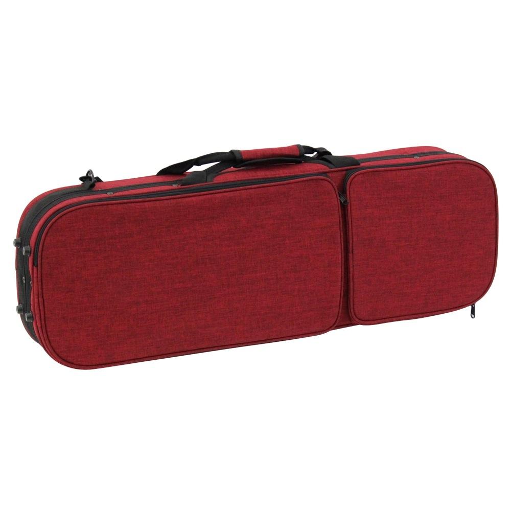 Carlo giordano OBL-170 RED 4/4 バイオリン用軽量セミハードケース