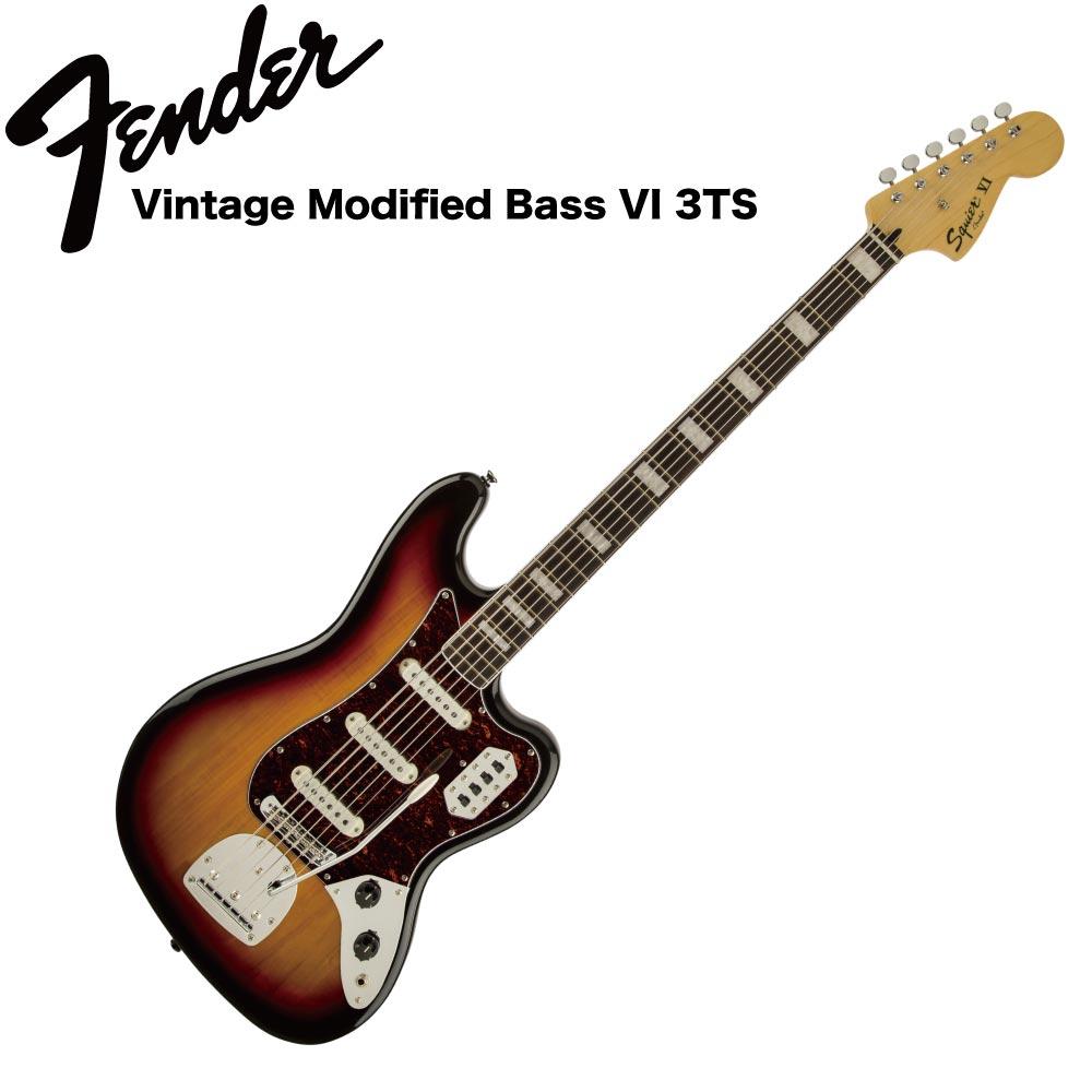 Squier Vintage Modified Bass VI Laurel Fingerboard 3TS 6弦エレキベース