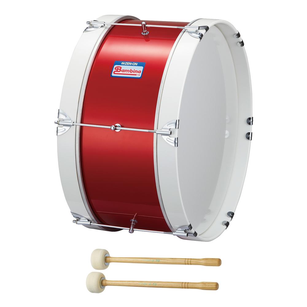 全音 PG-1NR バンビーナ マーチング バスドラム 赤 マレット付き