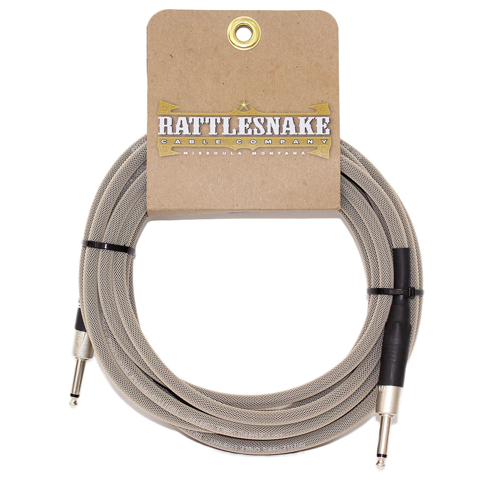 Rattlesnake Cable Standard Dirty Tweed 6m SS ギターケーブル