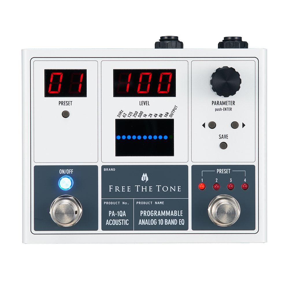 Free The Tone PA-1QA PROGRAMMABLE ANALOG 10 BAND EQ アコースティック用エフェクター